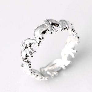 New fashion lovely women ring elephant 925